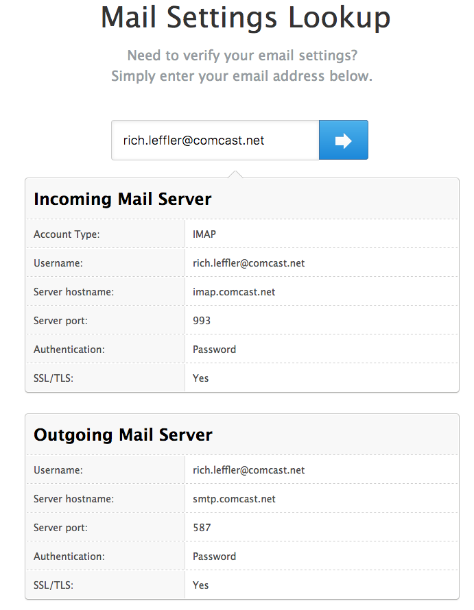 Mac MAIL app set up questions for (Comcast/Xfinity) | Mac
